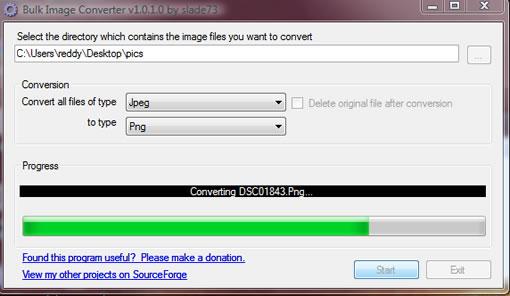 Bulk image converter