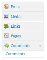 Wordpress Dashboard Admin Menu