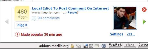 Digg Firefox Notifications