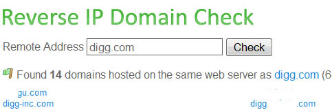 Reverse IP Domain Check