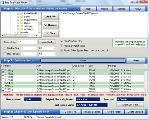 Easy Duplicate File Finder