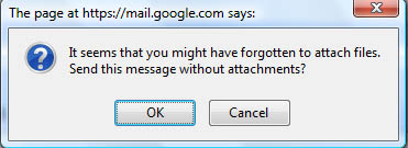 Gmail Labs Forgotten Attachment