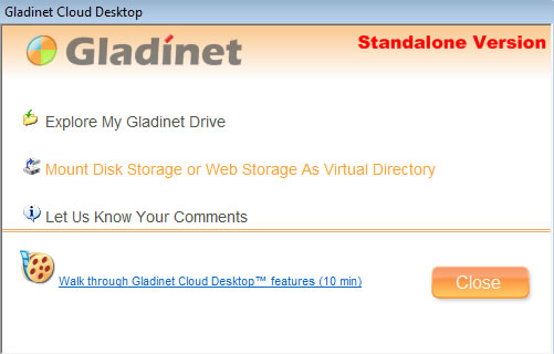 Gladinet Mount Online Storage Space as Virtual Drive