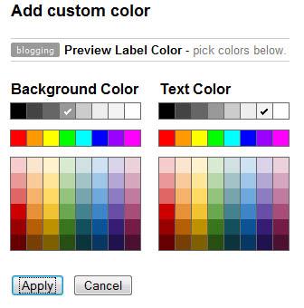 Gmail Label Colors