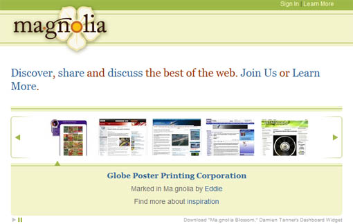 ma.gnolia social bookmarking site