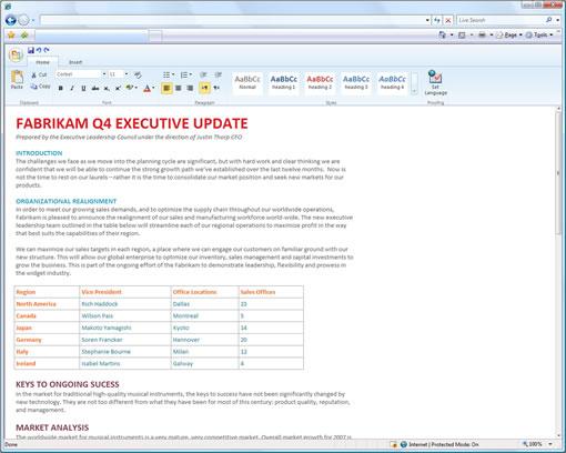 Microsoft Online Office