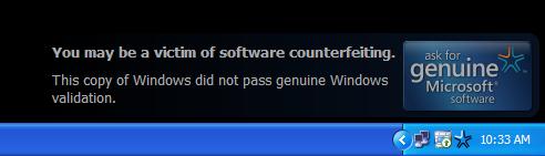 Windows Genuine Advantage Notifications