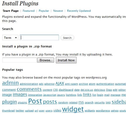Wordpress Plugin Installer