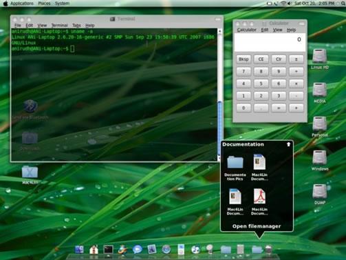 transform linux to mac