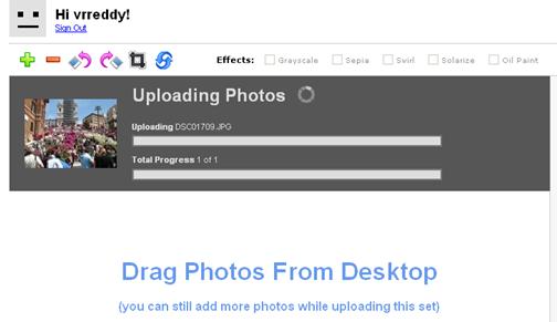 Yahoo BrowserPlus Uploadr