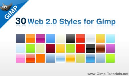 gimp web 2.0 layer styles