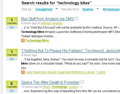 Twingly Blog Search