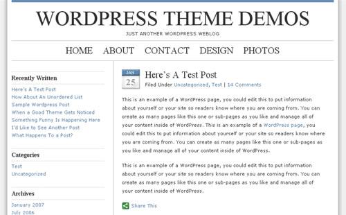 blue zinfandel wordpress theme