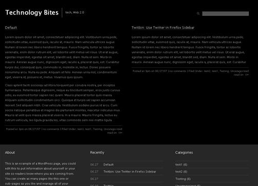 hemingway dark wordpress theme