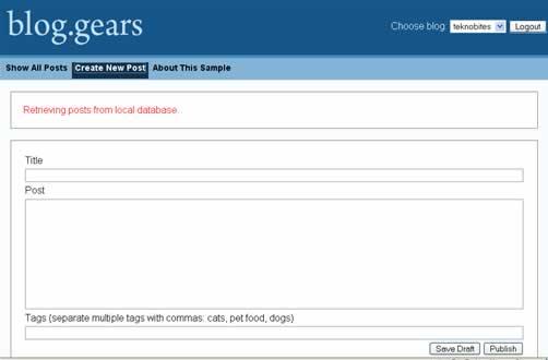blog.gears editor
