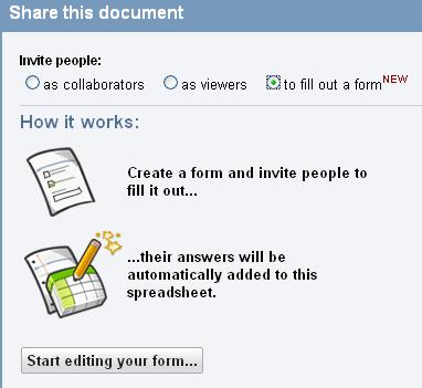 google docs forms