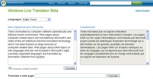 windows live translator
