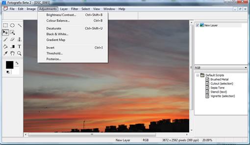 Fotografix Portable image editing and photo retouching tool