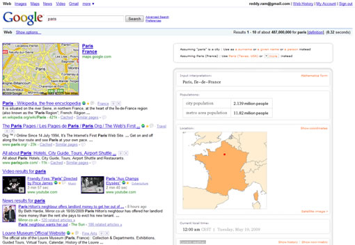 Get Wolfram Alpha search results in Google