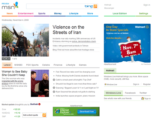 MSN launches new home page