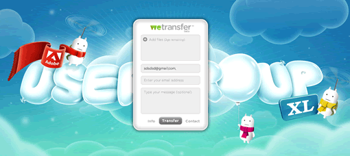 Send files upto 2GB for free with WeTransfer