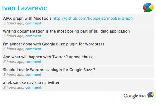 Google Buzz ER