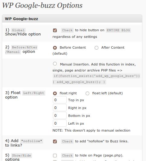 WP Google Buzz