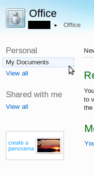 Office Web Apps - My Documents