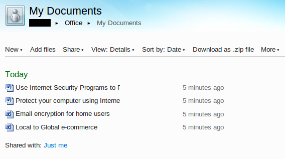 Office Web Apps Documents