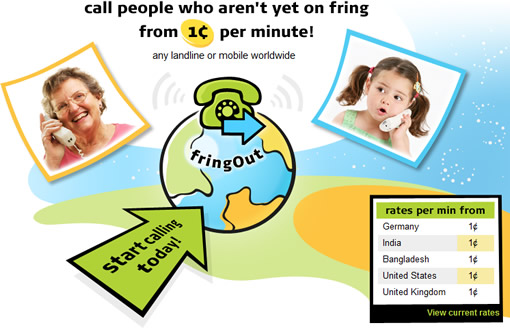 Fring launches FringOut mobile VoIP service for cheap calls worldwide