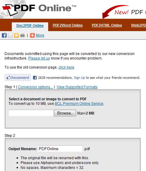 Doc2PDF Online