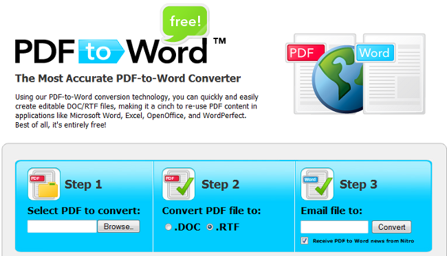 free tool to convert pdf to word