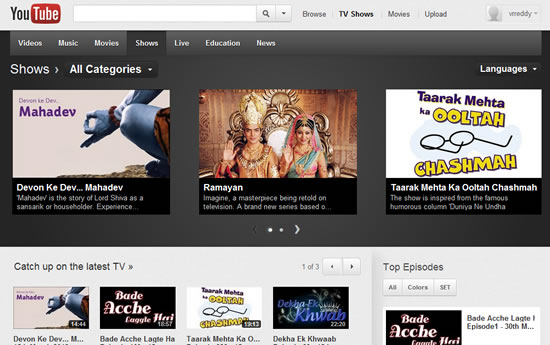 YouTube Brings 19000+ Indian TV Shows Online • Technology Bites