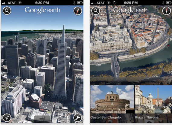 Google earth 7 brings 3d views to new ipad ipad2 and iphone 4s tour gumiabroncs Image collections