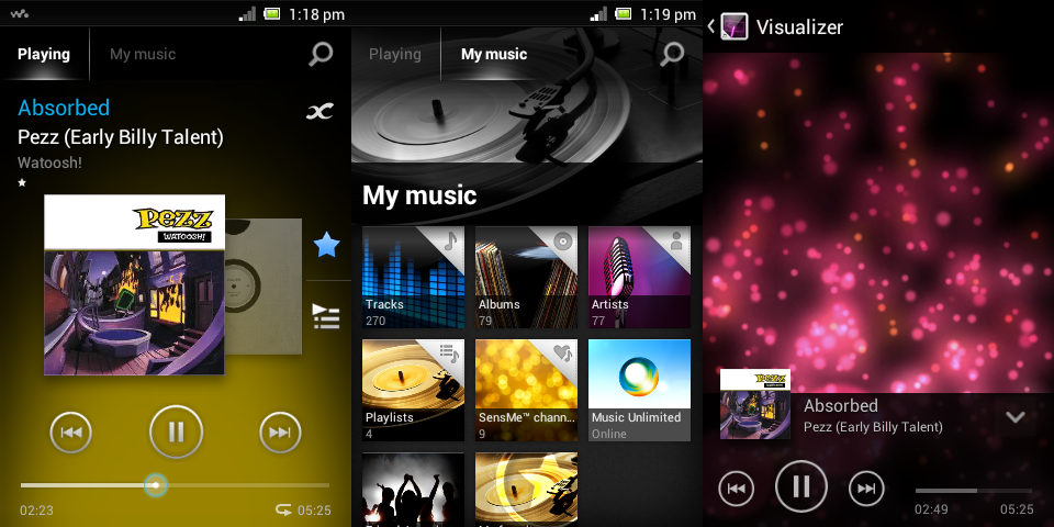 Image result for walkman music player app