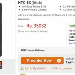 HTC 8X Windows Phone is up for pre-order at Flipkart for Rs.35032
