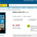 Nokia Lumia 720 Listed at Flipkart for Rs 18500