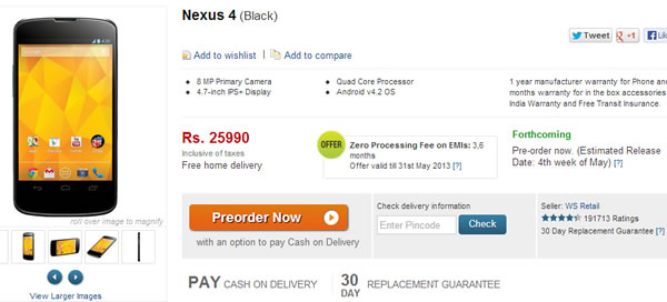 flipkart-nexus-4-pre-orders