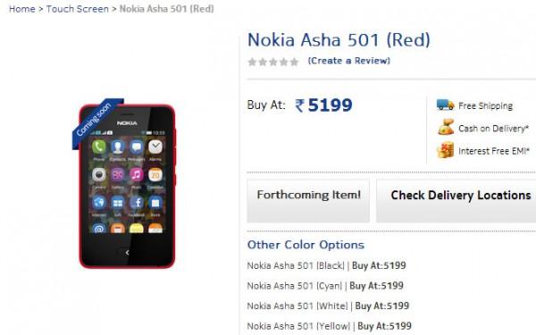 Nokia Asha 501 on Pre-Order