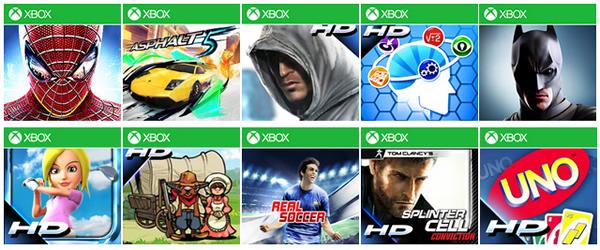 Windows phone 8 Xbox Games Sale