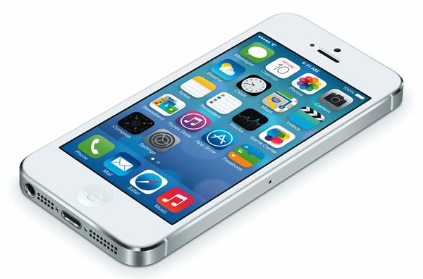 iPhone 5 running iOS 7