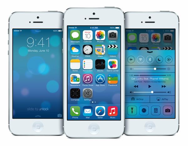 iOS 7 Lock screen, Control Center