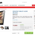 Lenovo IdeaPad A1000 is available in India at Rs. 8980