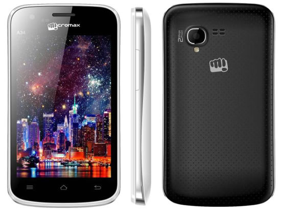 Micromax A34 launched in India