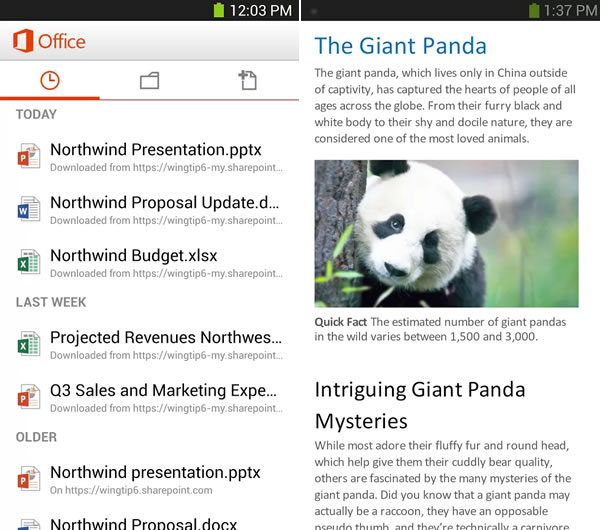 Download Microsoft Office for Android phones