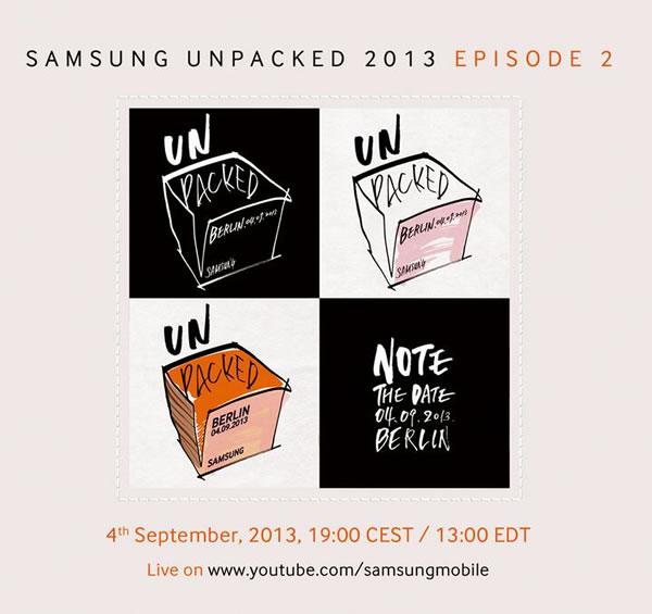 Samsung Galaxy Note 3 Unpacked Event Invite