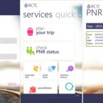 IRCTC Windows Phone App Launched