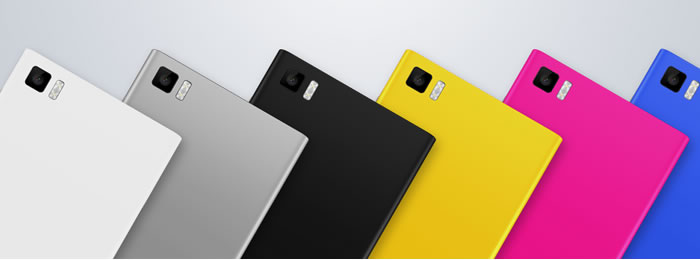 Xiaomi Mi3 available in different colors