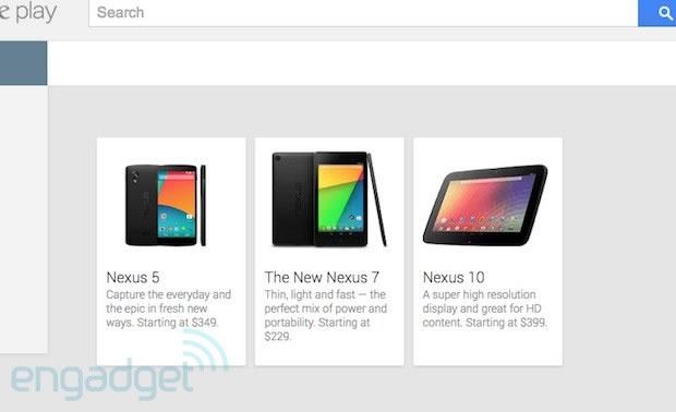 Nexus 5 Google Play Listing Appeared
