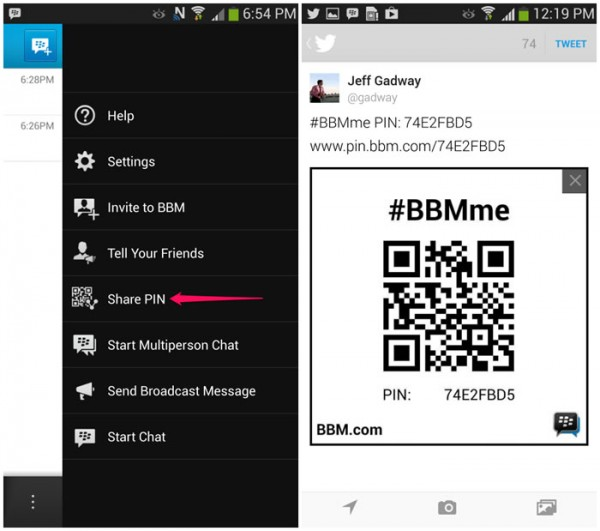 BBM for Android and iOS Updated with new features
